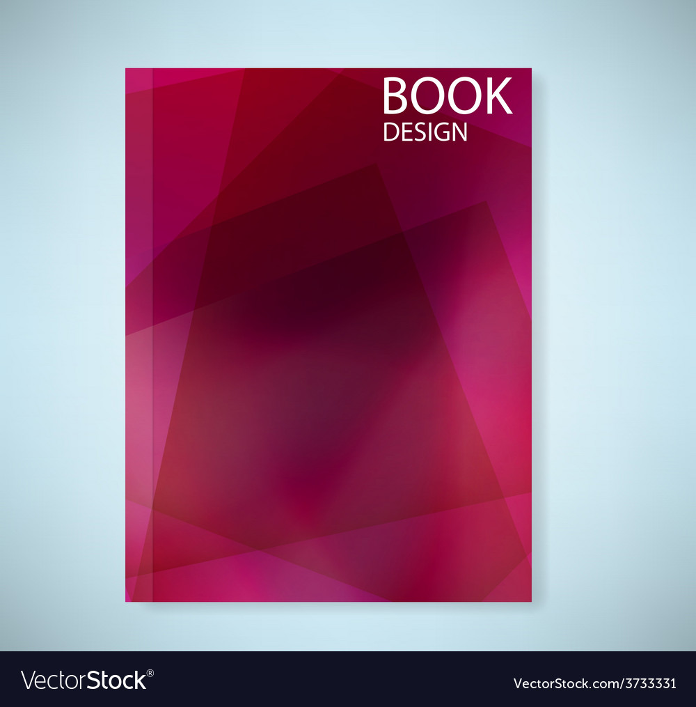 Cover report red abstract background vector | Price: 1 Credit (USD $1)