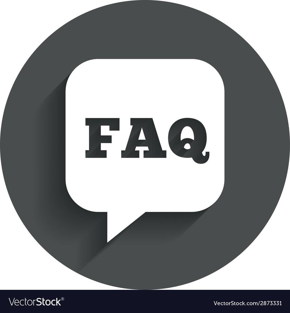 Faq information sign icon help symbol vector | Price: 1 Credit (USD $1)