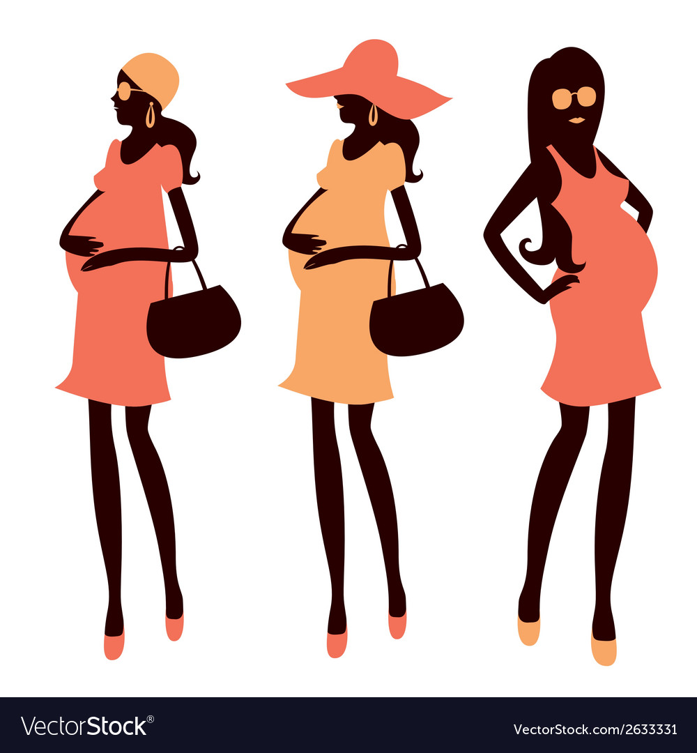 Fashionable pregnancy and maternity clipart vector | Price: 1 Credit (USD $1)