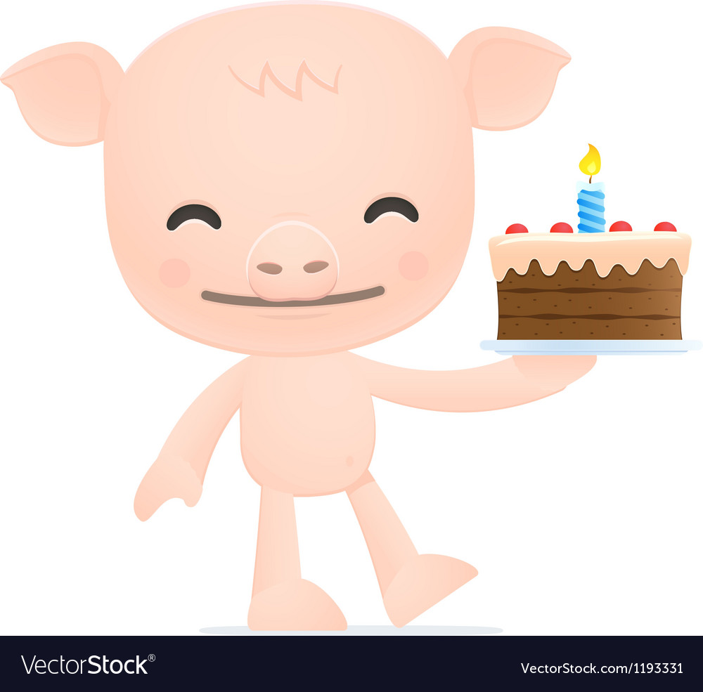 Funny cartoon pig vector | Price: 3 Credit (USD $3)