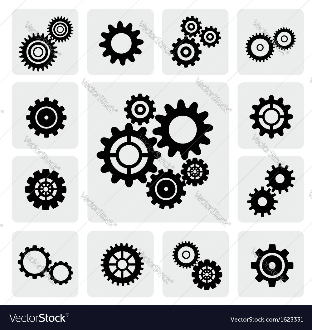 Gearwheel mechanism icon vector | Price: 1 Credit (USD $1)