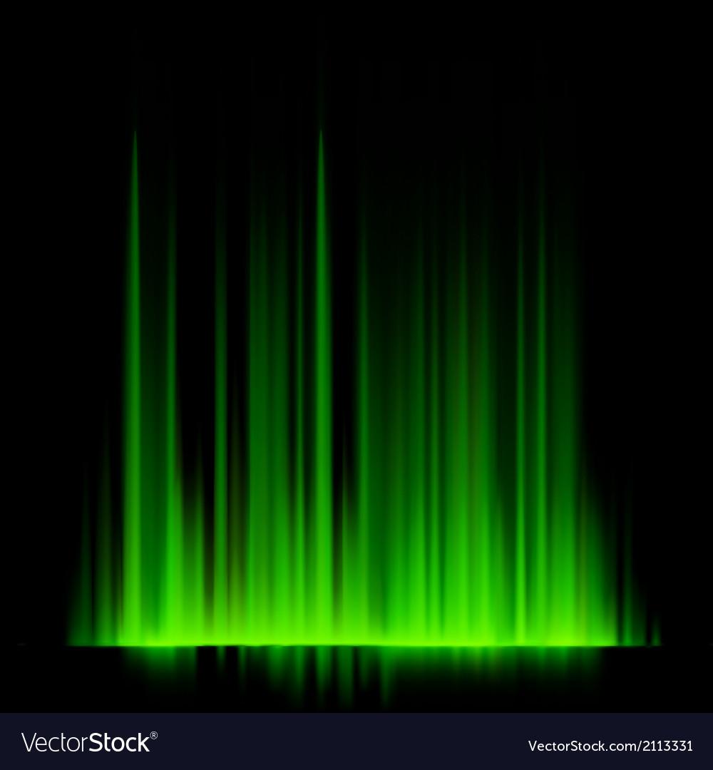 Green northern lights aurora borealis eps 10 vector | Price: 1 Credit (USD $1)