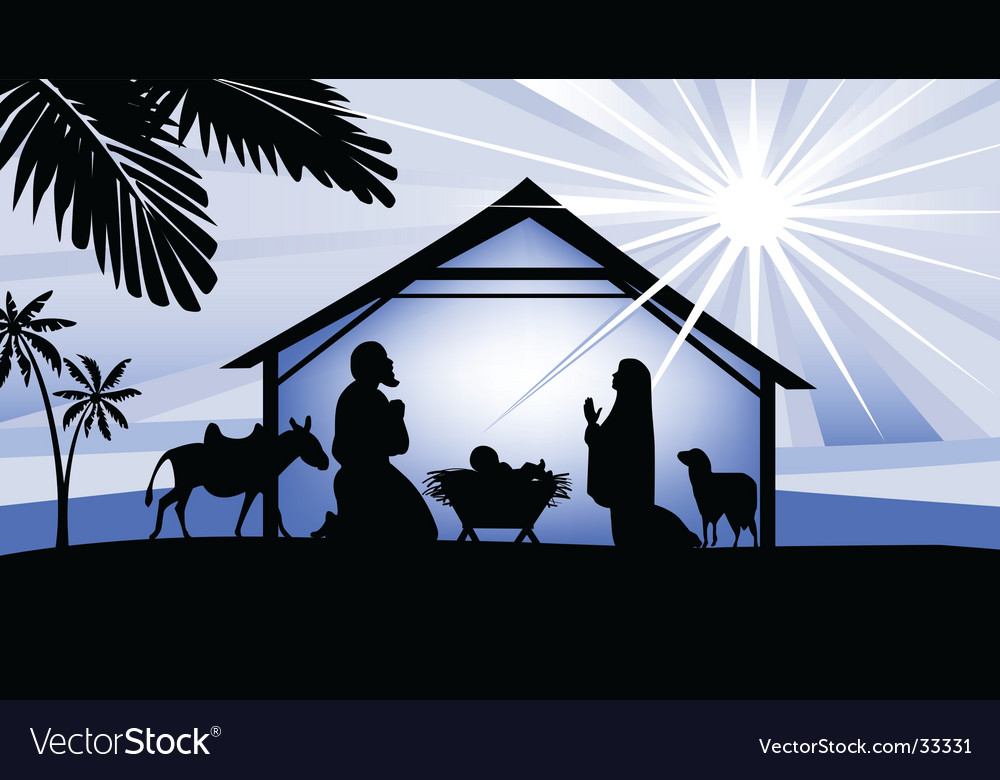 Holy night way to bethlehem vector | Price: 1 Credit (USD $1)