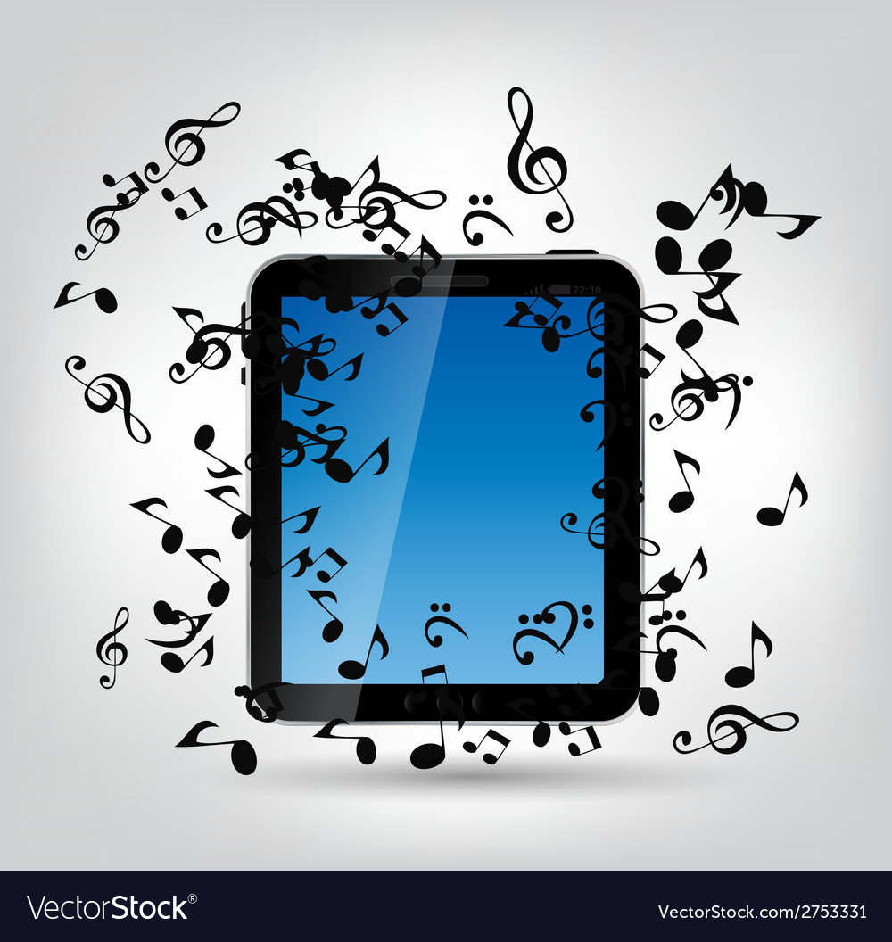 Mobile music phone vector | Price: 1 Credit (USD $1)