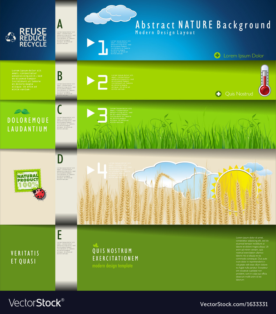 Modern ecology design template vector | Price: 1 Credit (USD $1)