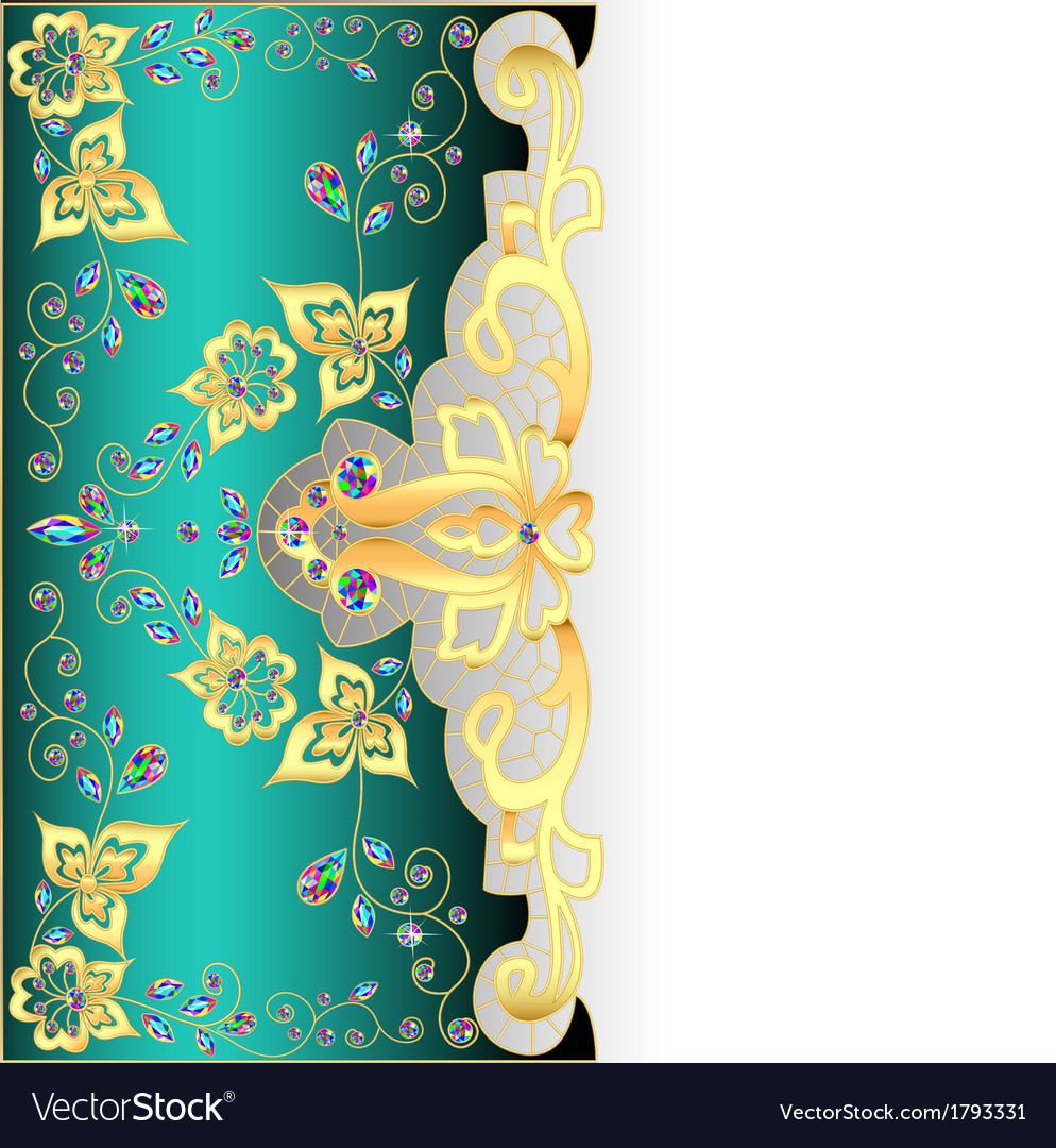 Salad background with gold ornament vector | Price: 1 Credit (USD $1)