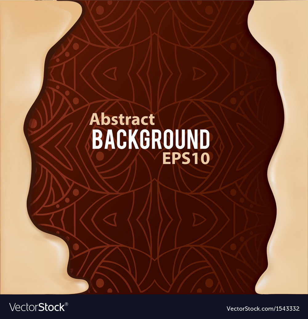 Abstract background with pattern and liquid frame vector | Price: 1 Credit (USD $1)