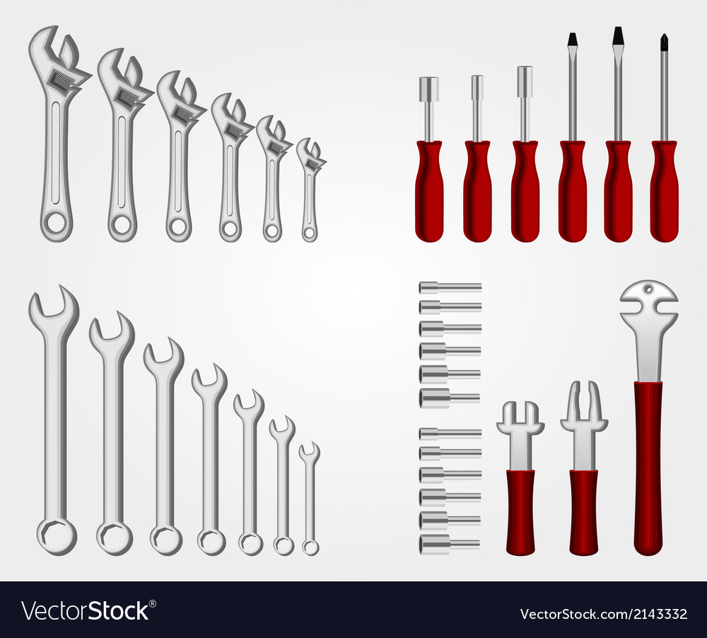 Auto service tool set vector | Price: 1 Credit (USD $1)