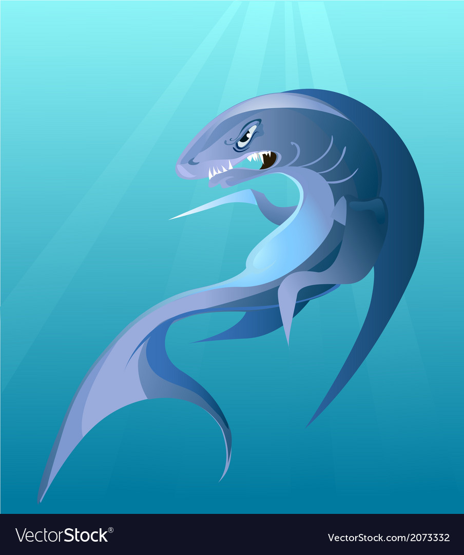 Big irritating shark vector | Price: 1 Credit (USD $1)