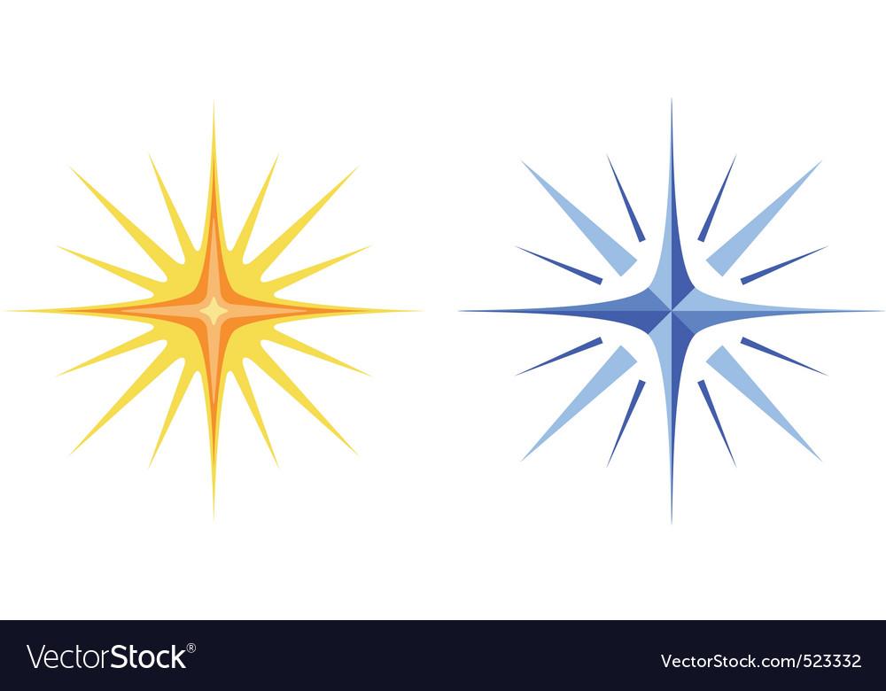 Christmas stars set vector | Price: 1 Credit (USD $1)