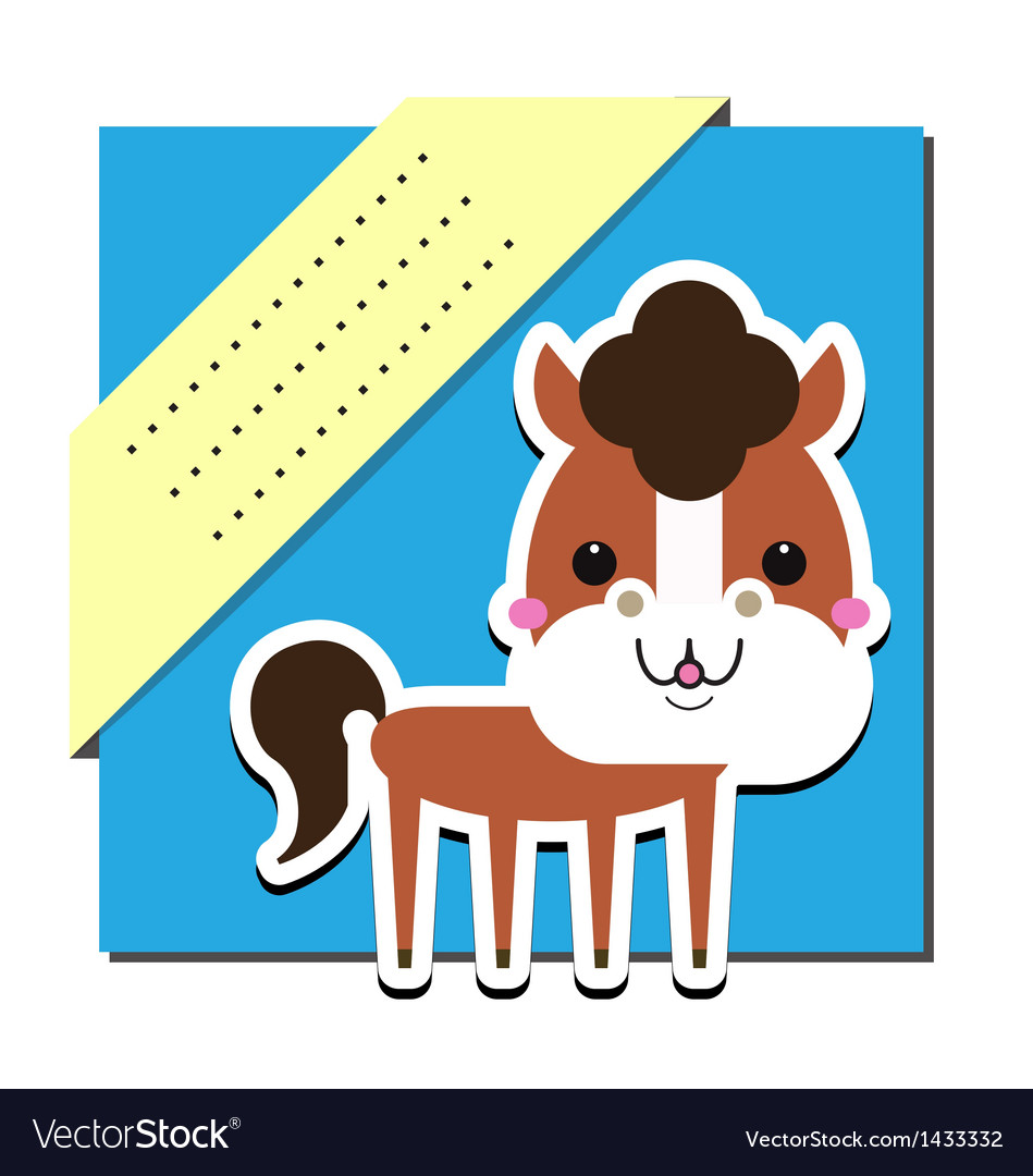 Cute horse vector | Price: 1 Credit (USD $1)