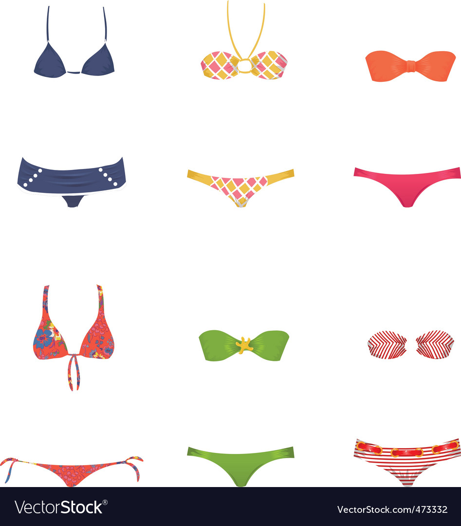 Female swimwear vector | Price: 1 Credit (USD $1)