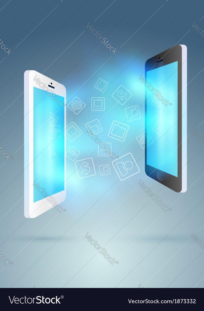 Mobile exchange - conceptual background vector | Price: 1 Credit (USD $1)