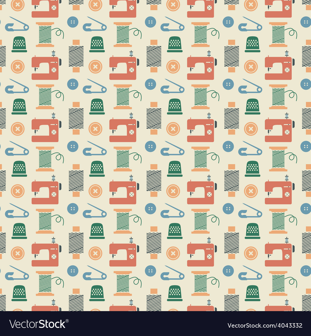 Needlework seamless pattern vector | Price: 1 Credit (USD $1)