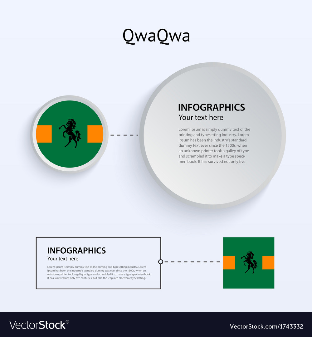 Qwaqwa country set of banners vector | Price: 1 Credit (USD $1)
