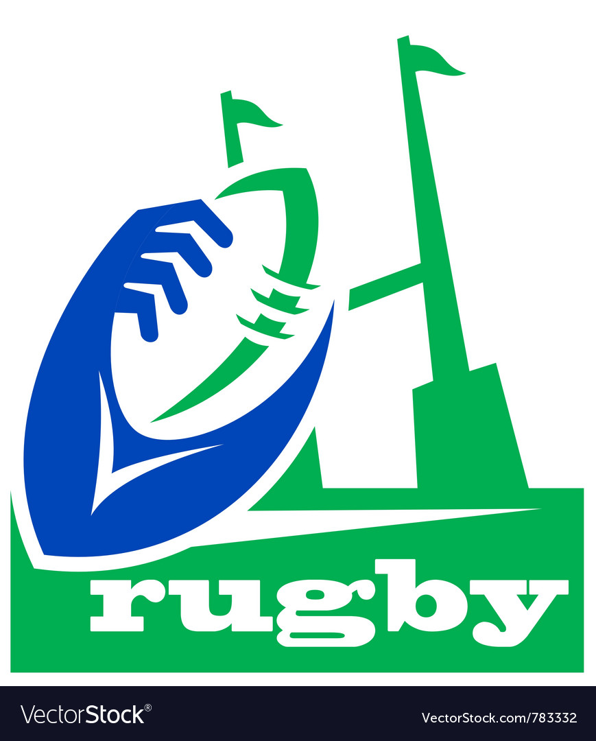 Rugby icon logo vector | Price: 1 Credit (USD $1)