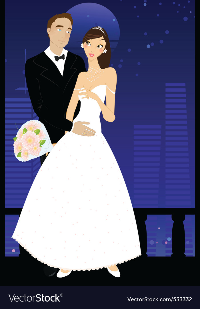 Sexy bride and groom vector | Price: 1 Credit (USD $1)