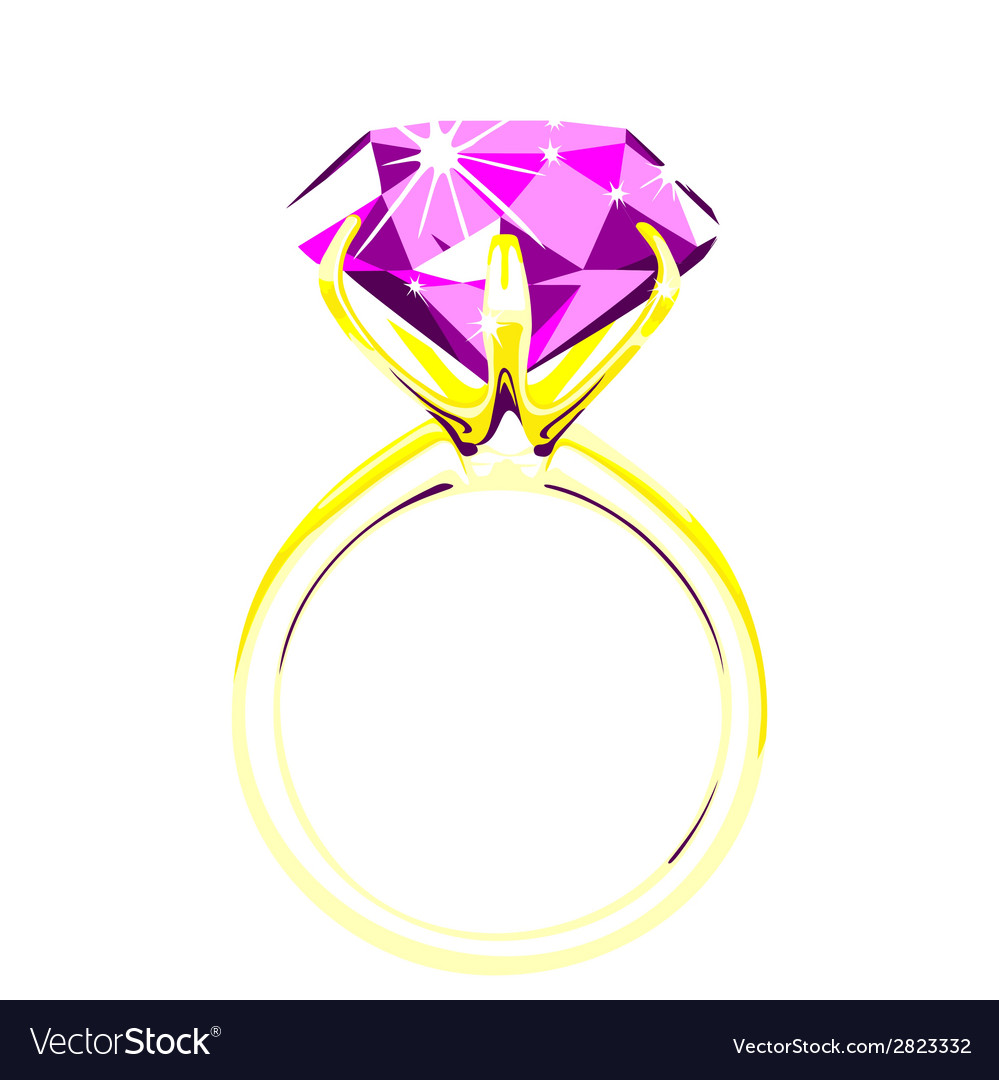 Solitaire - diamond ring vector | Price: 1 Credit (USD $1)