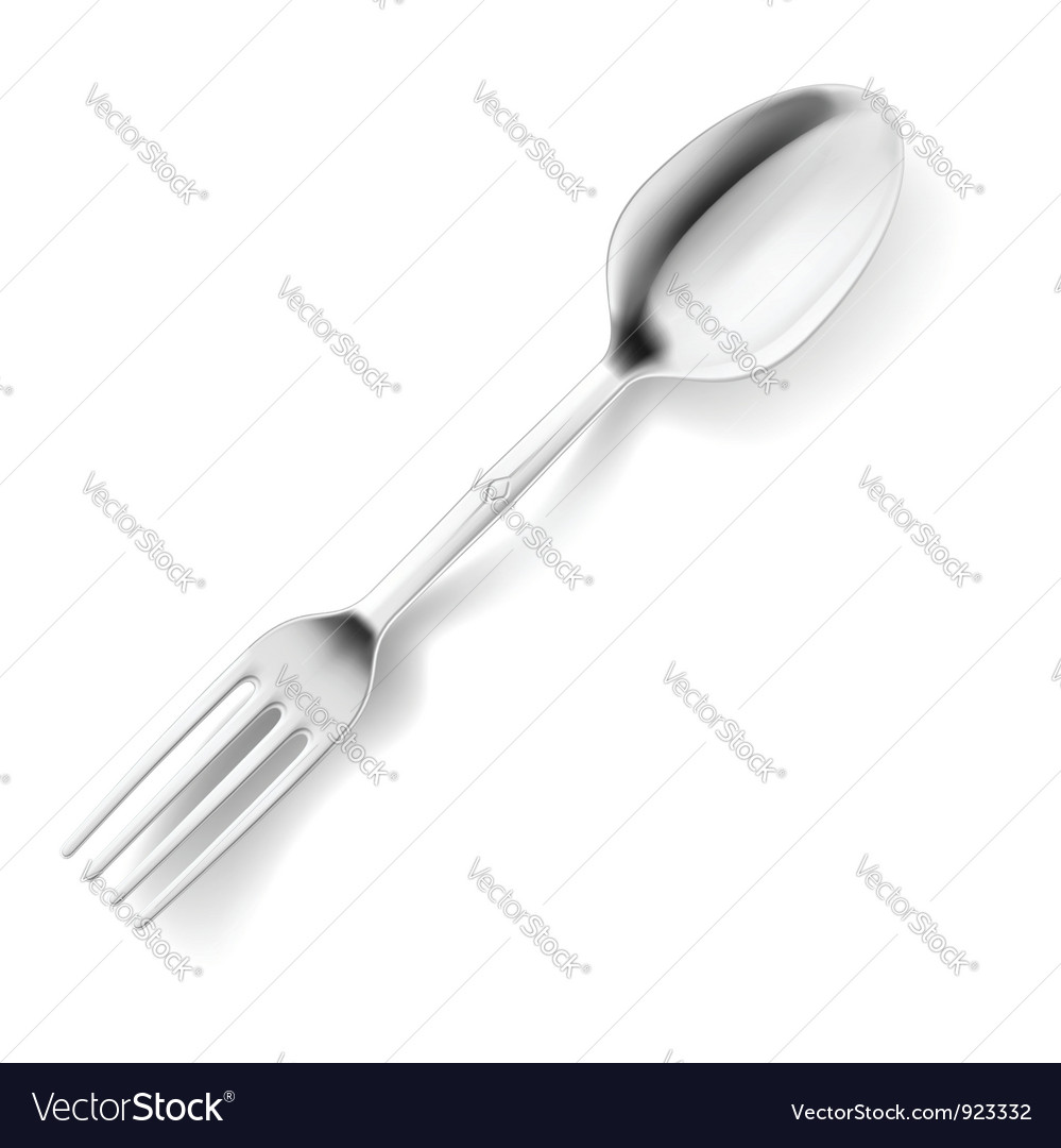 Spoon and fork hybrid vector | Price: 1 Credit (USD $1)