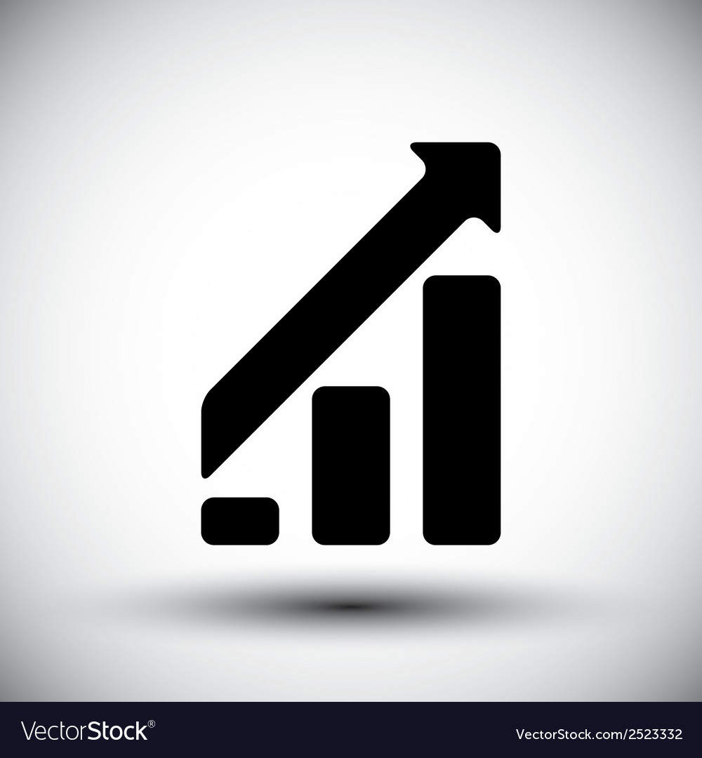 Upward graph icon vector | Price: 1 Credit (USD $1)