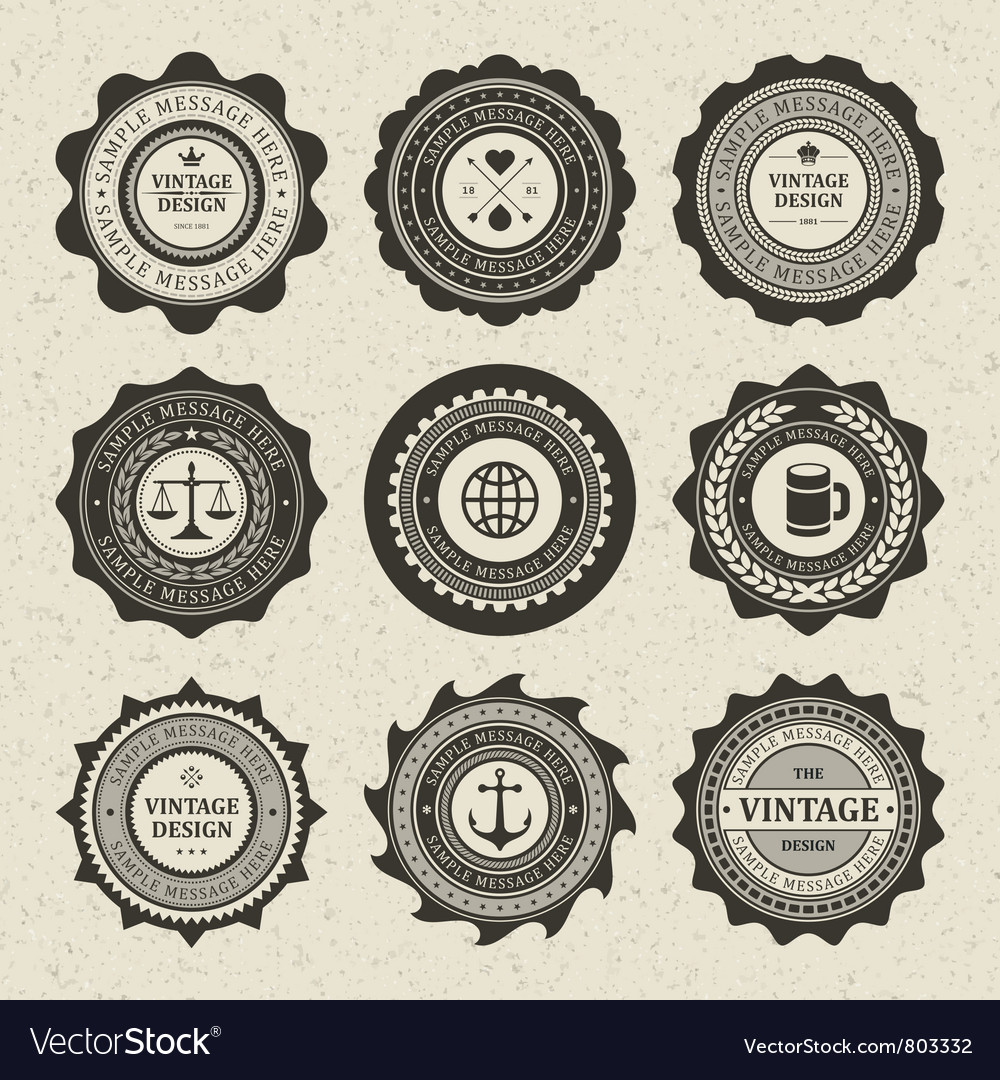 Vintage style retro emblem vector | Price: 1 Credit (USD $1)