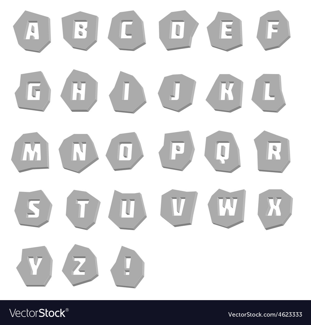 Alphabet unusual steel vector | Price: 1 Credit (USD $1)