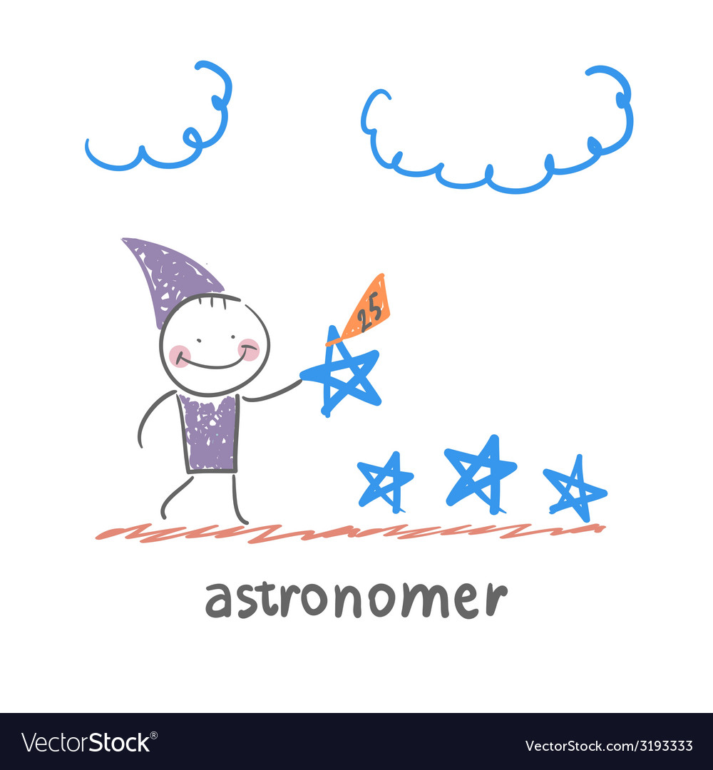Astronomer gives the order stars vector | Price: 1 Credit (USD $1)