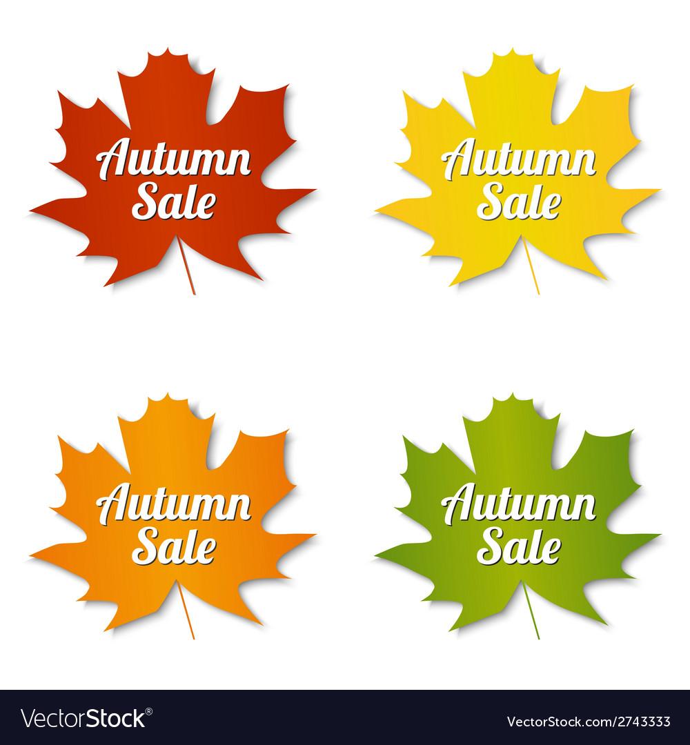 Autumn sale labels vector | Price: 1 Credit (USD $1)