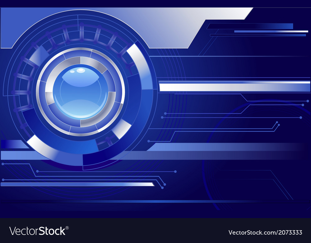 Blue background with a blue lens vector | Price: 1 Credit (USD $1)
