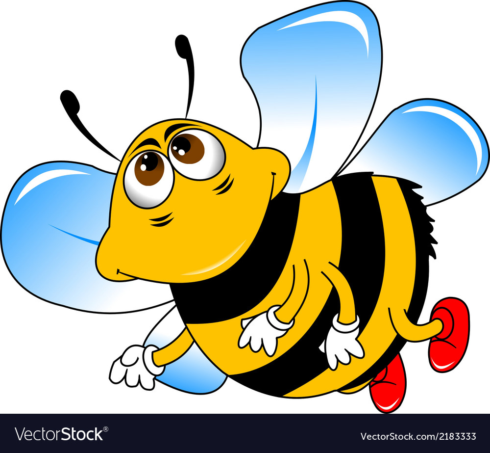 Bumble bee cartoon vector | Price: 1 Credit (USD $1)