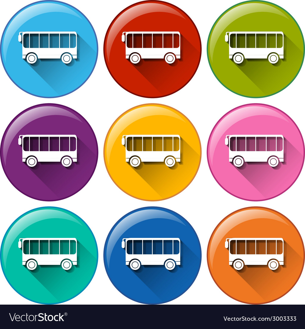Bus icons vector   Price: 1 Credit (USD $1)