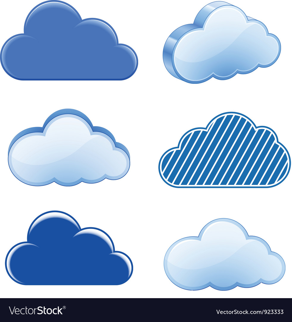 Cloud icon collection vector | Price: 1 Credit (USD $1)