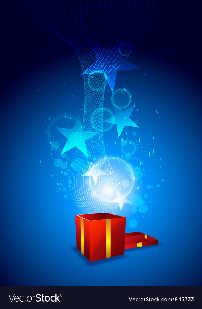 Magic from giftbox vector | Price: 1 Credit (USD $1)