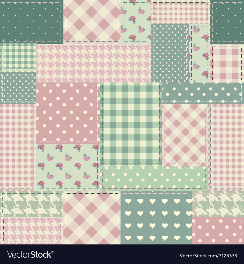 The patchwork in style shabby chic vector | Price: 1 Credit (USD $1)