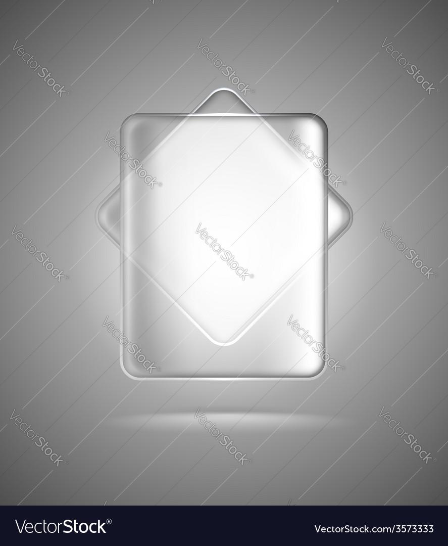 Transparent glass rectangles vector | Price: 1 Credit (USD $1)
