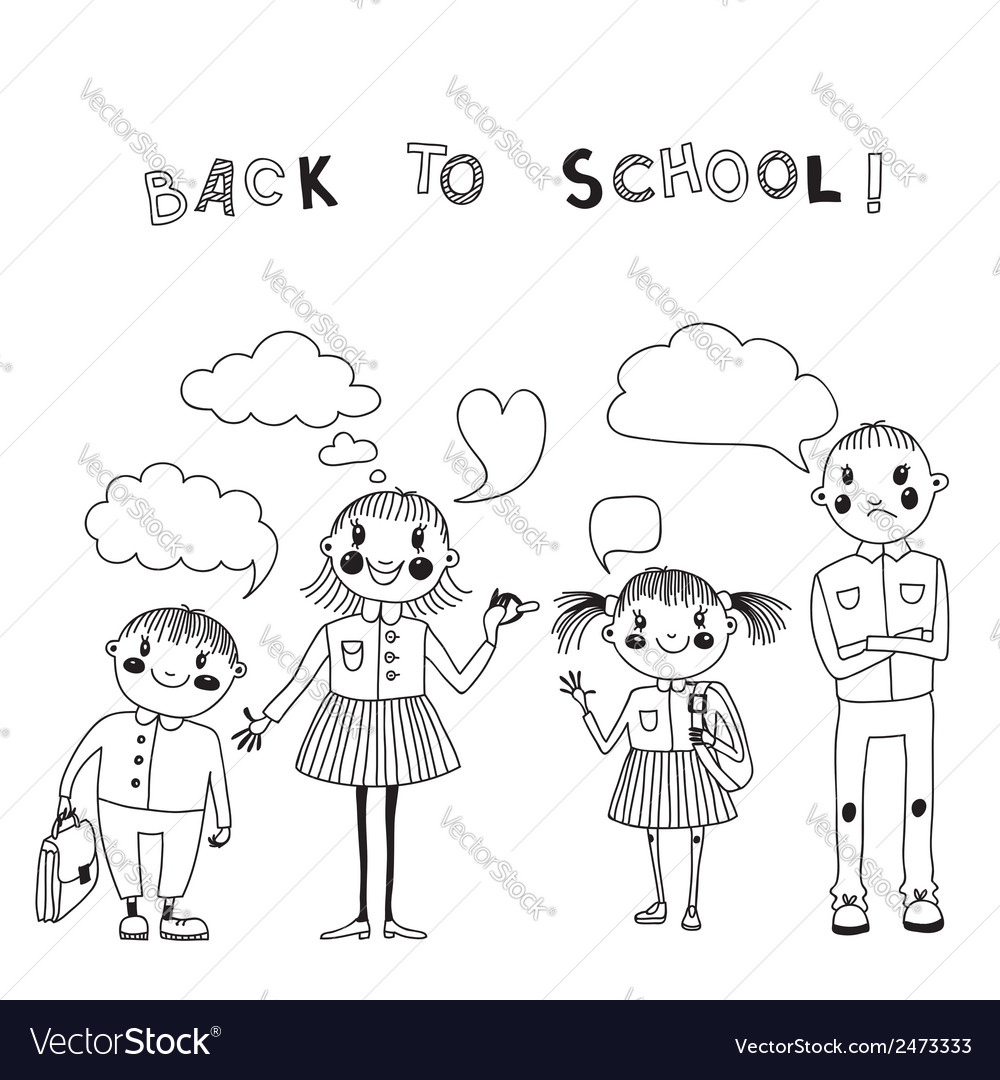 With students back to school vector | Price: 1 Credit (USD $1)