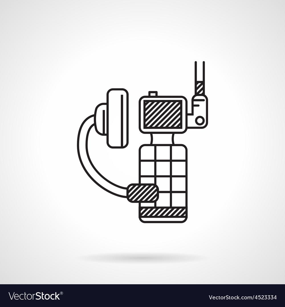 Black icon for portable radio device vector | Price: 1 Credit (USD $1)