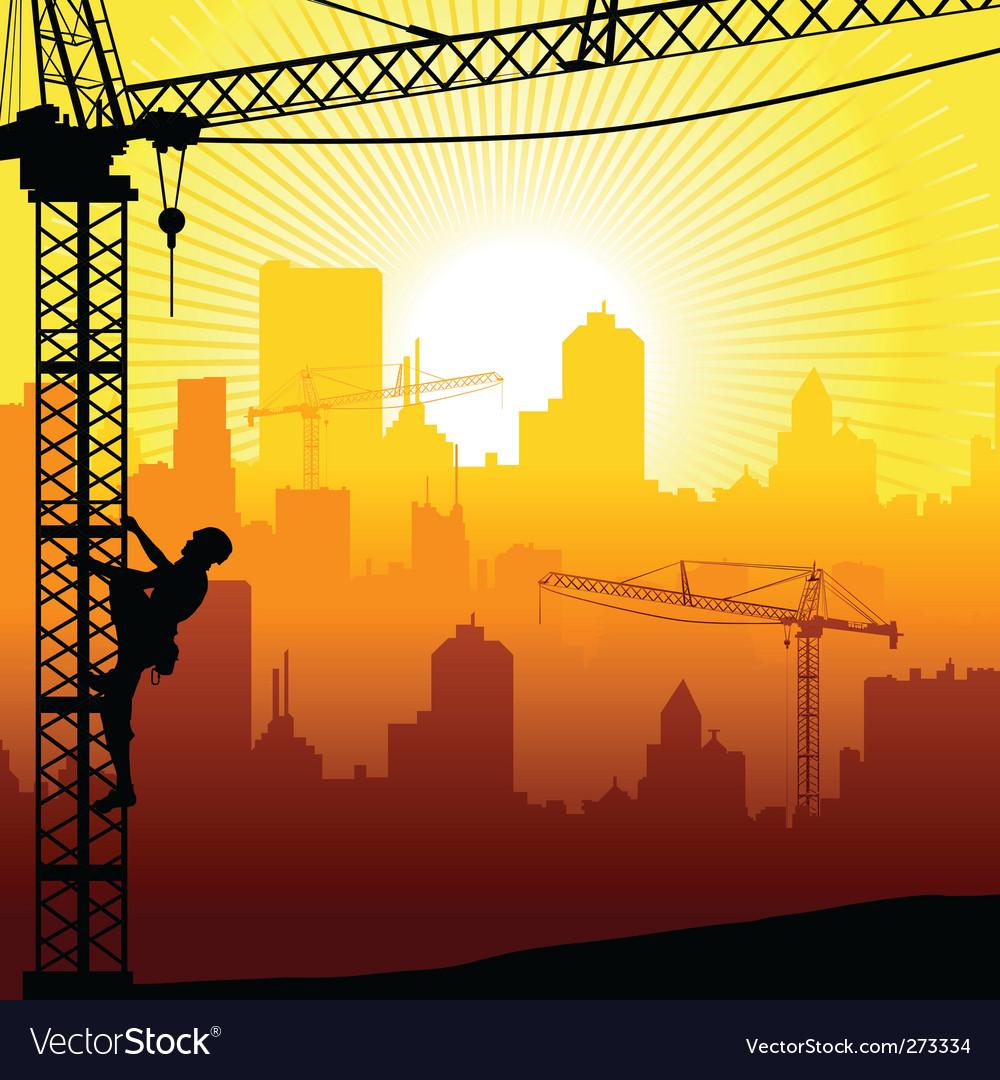 Construction city vector | Price: 1 Credit (USD $1)