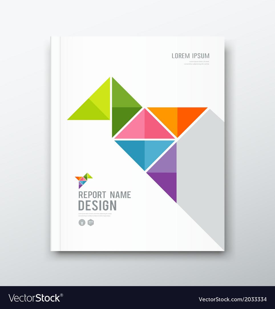 Cover annual report bird origami paper design vector | Price: 1 Credit (USD $1)