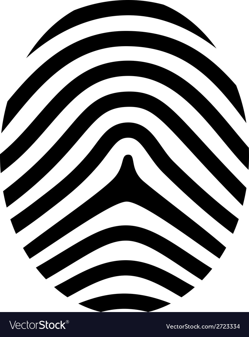 Drawing fingerprint symbol vector | Price: 1 Credit (USD $1)