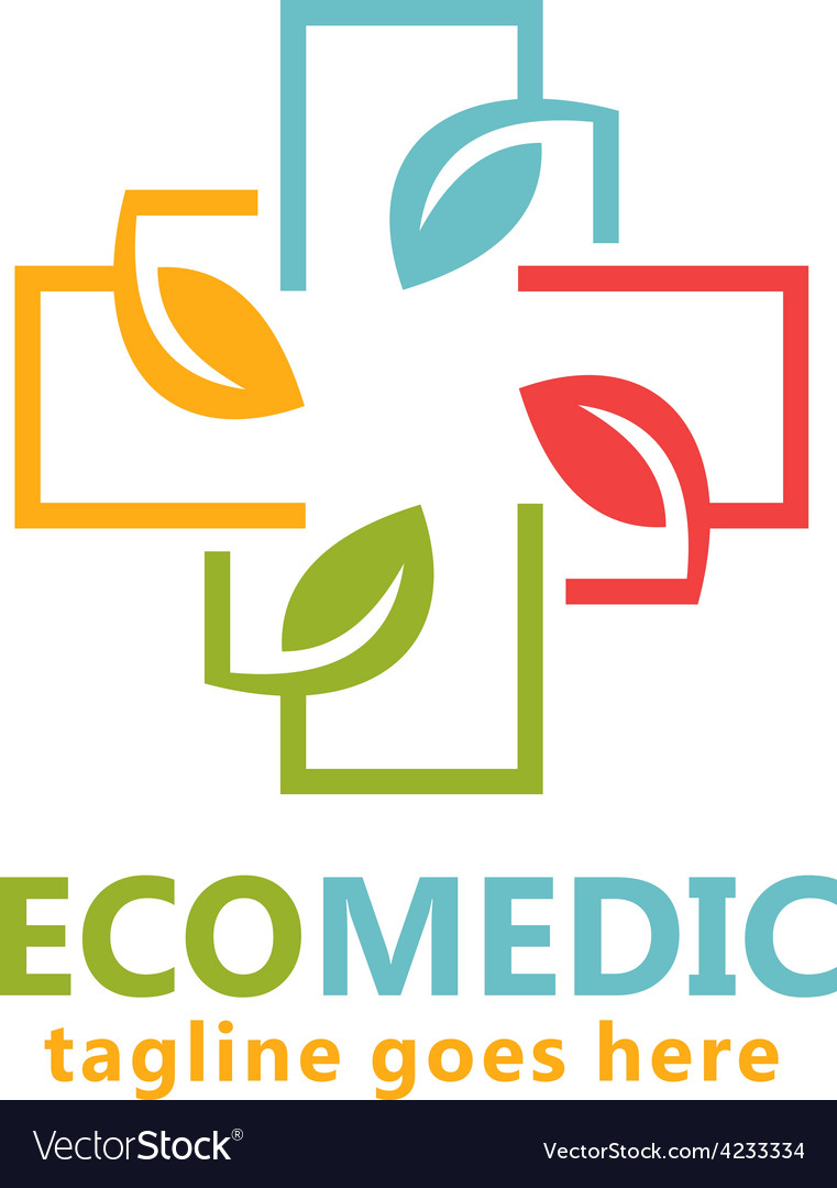 Eco medical organic logo vector | Price: 1 Credit (USD $1)
