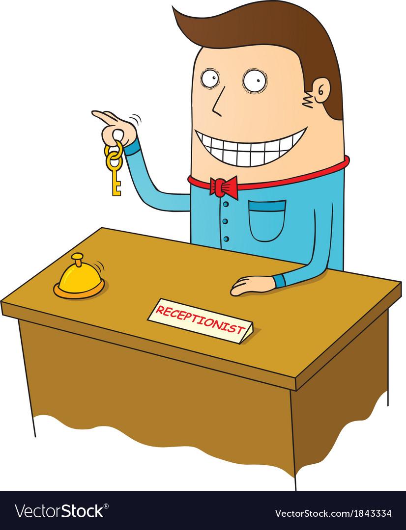 Happy receptionist vector | Price: 1 Credit (USD $1)