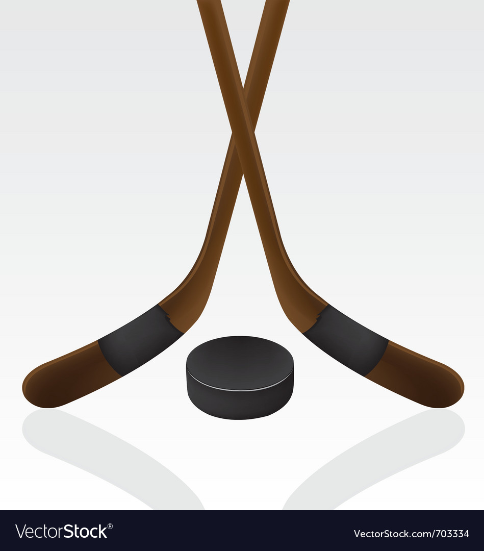 Hockey puck and stick vector | Price: 1 Credit (USD $1)