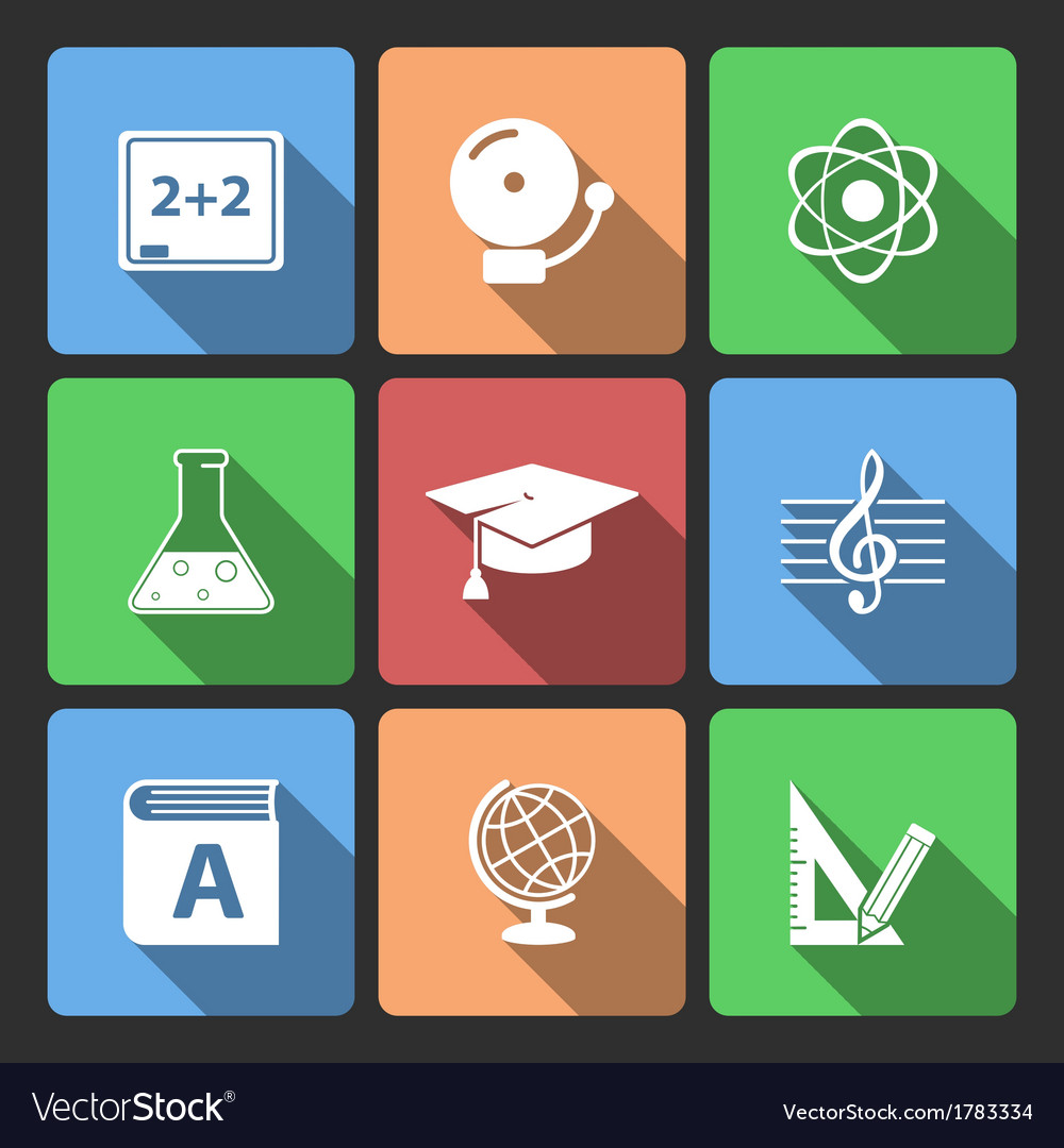 Iconset for educational app vector | Price: 1 Credit (USD $1)