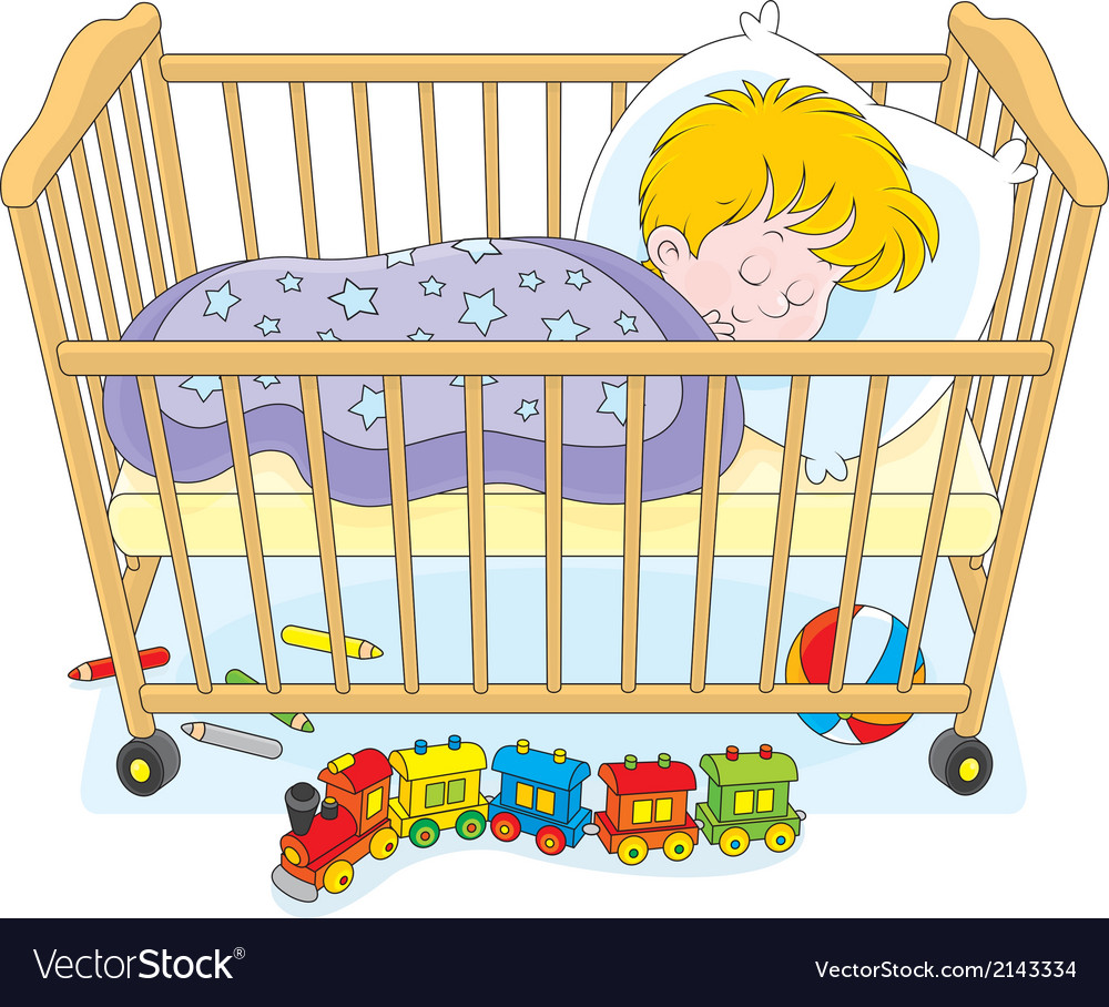 Little boy sleeping vector | Price: 1 Credit (USD $1)