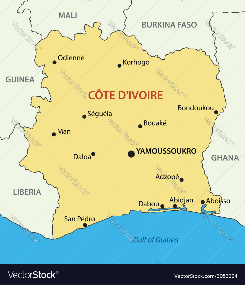 Republic - ivory coast - map vector   Price: 1 Credit (USD $1)
