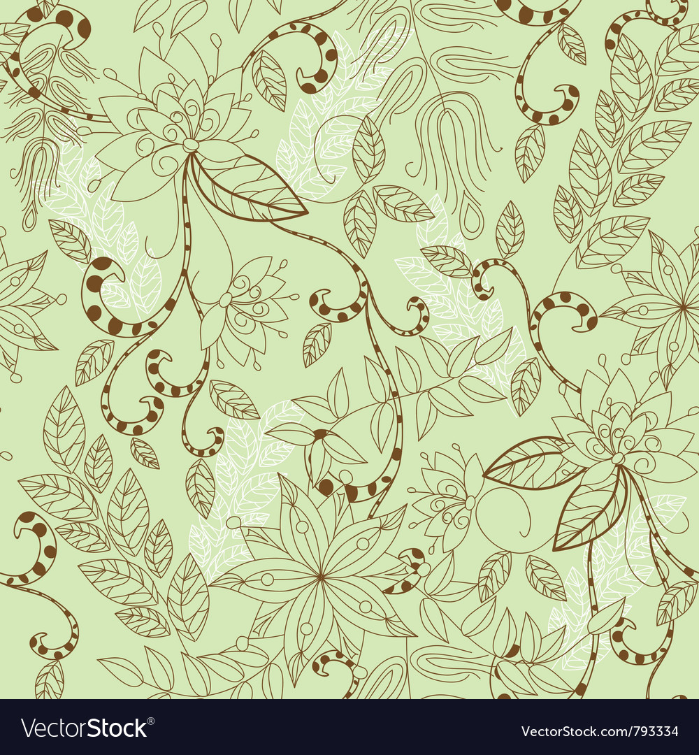 Seamless flower patter vector | Price: 1 Credit (USD $1)