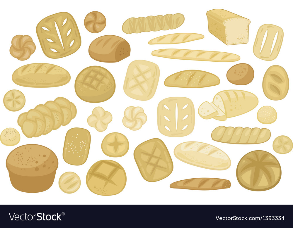 Various breads set vector | Price: 1 Credit (USD $1)