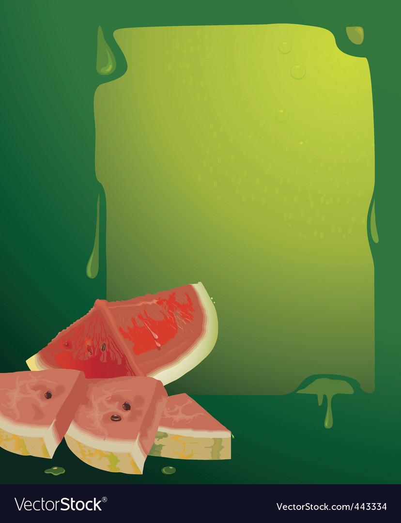 Water melon vector | Price: 1 Credit (USD $1)