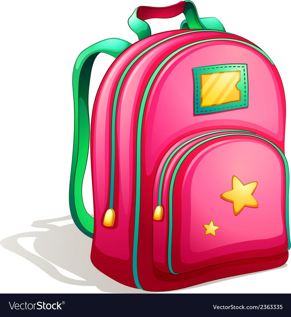 A pink schoolbag vector   Price: 1 Credit (USD $1)